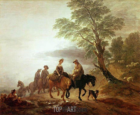 Peasants Going to Market Early Morning, 1770 | Gainsborough | Painting Reproduction