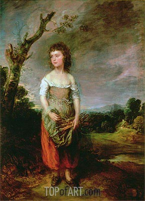 Peasant Girl Gathering Faggots, 1782 | Gainsborough| Painting Reproduction