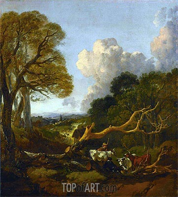 Gainsborough | The Fallen Tree, c.1750/53