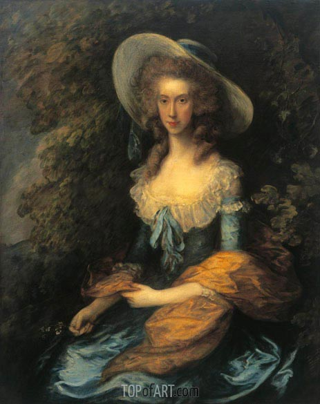 Gainsborough | Portrait of Miss Evans, c.1786/90