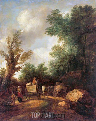 Landscape With Country Carts, c.1784/85 | Gainsborough| Painting Reproduction