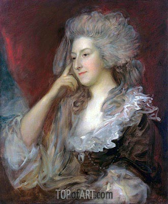 Mrs Fitzherbert, 1784 | Gainsborough| Painting Reproduction