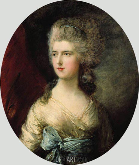 Gainsborough | Portrait of Lady Anna Horatia Waldegrave, c.1783