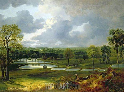 Holywells Park Ipswich, c.1748/50 | Gainsborough| Painting Reproduction
