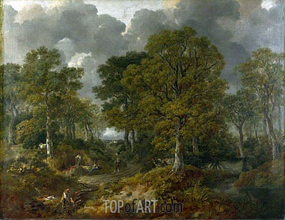 Gainsborough | Cornard Wood, near Sudbury, Suffolk (Gainsborough's Forest), 1748