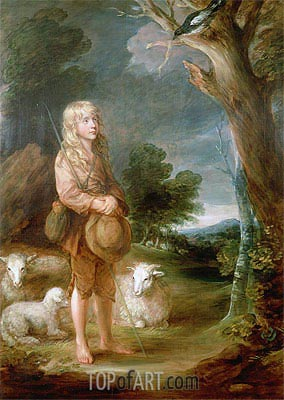 Shepherd Boy Listening to a Magpie,  | Gainsborough| Painting Reproduction