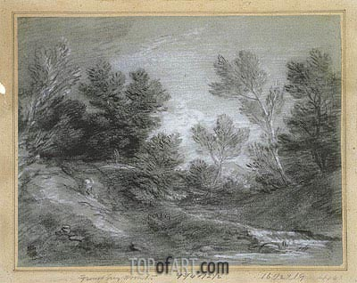 A Woodland Stream,  | Gainsborough| Painting Reproduction