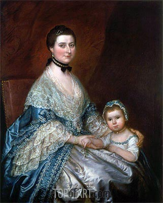 Mrs. Bedingfield and her Daughter, c.1760/70 | Gainsborough | Gemälde Reproduktion