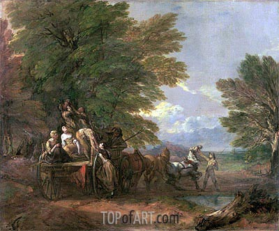 The Harvest Wagon, c.1767 | Gainsborough | Painting Reproduction