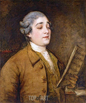 Portrait of Giusto Ferdinando Tenducci, Castrato Singer and Composer, c.1773/75 | Gainsborough| Painting Reproduction