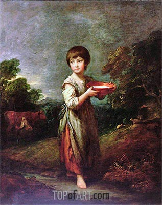 Lavinia, the Milk Maid,  | Gainsborough| Painting Reproduction
