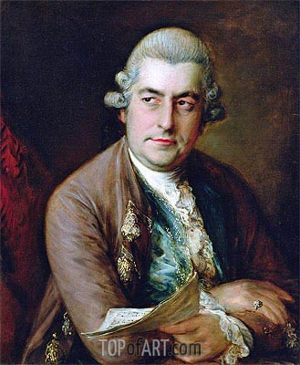Portrait of Johann Christian Bach,  | Gainsborough| Painting Reproduction