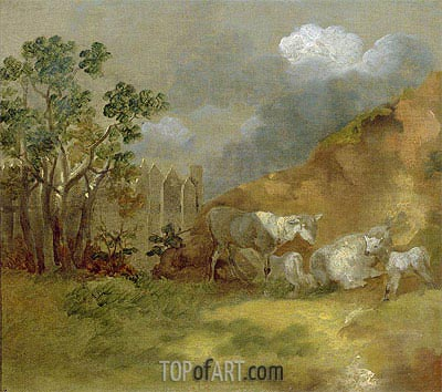 Gainsborough | Landscape with Sheep, c.1744