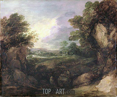 Landscape with Figures, c.1786 | Gainsborough | Painting Reproduction