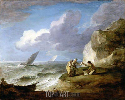Coastal Scene,  | Gainsborough | Painting Reproduction
