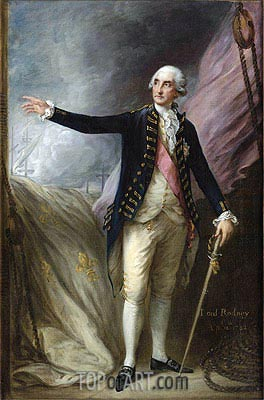 Gainsborough | Portrait of George Brydges Rodney, 1st Lord Rodney, 1782