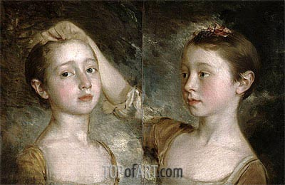 Gainsborough | The Painter's Daughters Mary and Margaret, c.1758