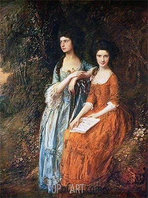 The Linley Sisters (Mrs. Sheridan and Mrs. Tickell),  | Gainsborough| Painting Reproduction