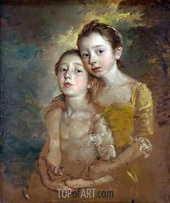 Gainsborough | The Painter's Daughters with a Cat, c.1760/61