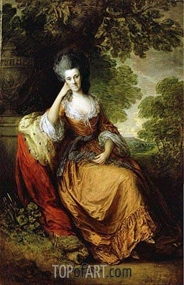 Lady Anne Hamilton Lady Anne Hamilton, later Duchess of Donegall, c.1777/80  | Gainsborough | Painting Reproduction