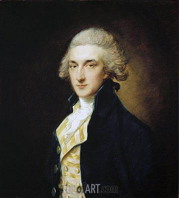 Sir John Edward Swinburne, 1785 | Gainsborough| Painting Reproduction