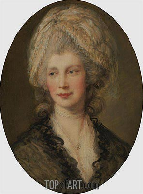 Charlotte, Queen of England,  | Gainsborough | Painting Reproduction