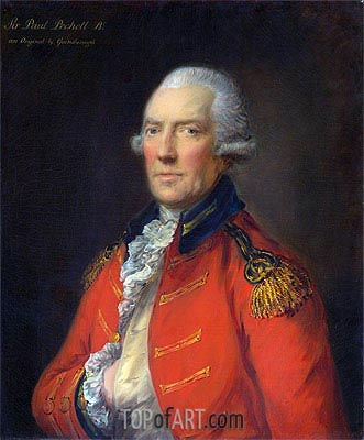 Lieutenant Colonel Paul Pechell,  | Gainsborough | Painting Reproduction
