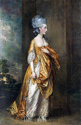 Mrs. Grace Dalrymple Elliott, 1778 | Gainsborough| Gemälde Reproduktion