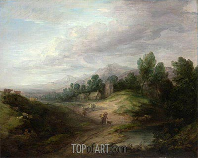 Wooded Upland Landscape, c.1783 | Gainsborough| Painting Reproduction