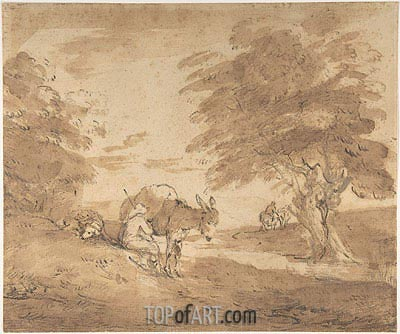 A Rest by the Way, c.1780 | Gainsborough | Painting Reproduction
