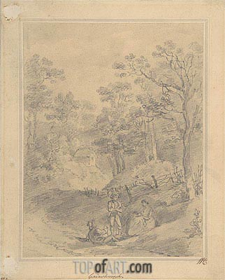 Landscape with Figures,  | Gainsborough | Painting Reproduction