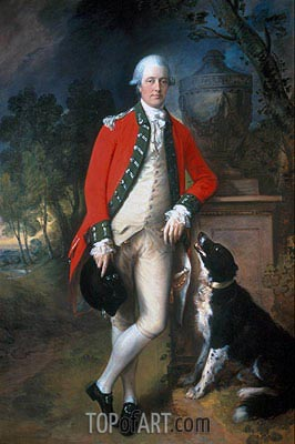 Colonel John Bullock, c.1770/75 | Gainsborough | Painting Reproduction