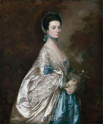 Mrs. Edmund Morton Pleydell, c.1765 | Gainsborough| Gemälde Reproduktion