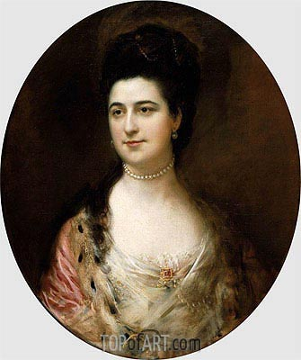 Mrs. Thomas Mathews,  | Gainsborough | Painting Reproduction