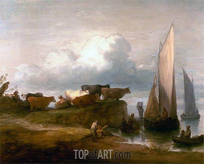 A Coastal Landscape, c.1782/84 | Gainsborough| Painting Reproduction