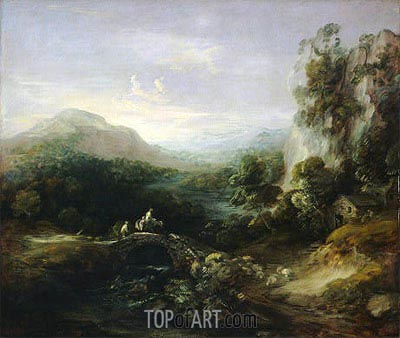 Gainsborough | Mountain Landscape with Bridge, c.1783/84