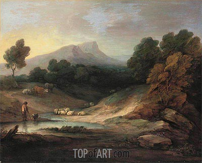 Gainsborough | Landscape with Shepherd and Flock, 1784