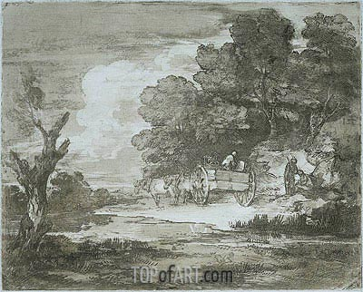 Landscape, 1780 | Gainsborough| Painting Reproduction
