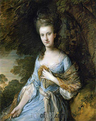 Portrait of Miss Sarah Buxton, c.1776/77 | Gainsborough | Painting Reproduction