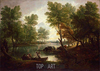 View near King's Bromley, on Trent, Staffordshire, c.1768/70 | Gainsborough | Painting Reproduction
