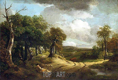 Rest by the Way, 1747 | Gainsborough | Painting Reproduction