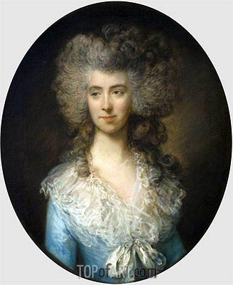 Portrait of a Lady in a Blue Dress, c.1783/85 | Gainsborough| Painting Reproduction