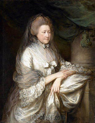 Viscountess Folkestone, c.1778 | Gainsborough| Painting Reproduction