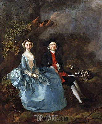 Portrait of Sarah Kirby and John Joshua Kirby, c.1751/52 | Gainsborough| Painting Reproduction