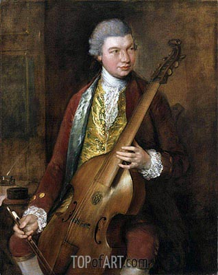 Portrait of Karl Friedrich Abel, c.1765 | Gainsborough | Painting Reproduction