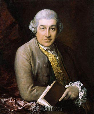 Portrait of David Garrick, 1770 | Gainsborough | Painting Reproduction
