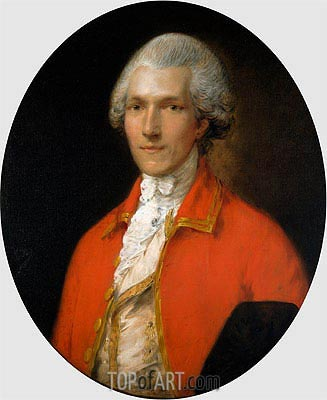 Sir Benjamin Thompson, later Count Rumford, 1783 | Gainsborough| Gemälde Reproduktion
