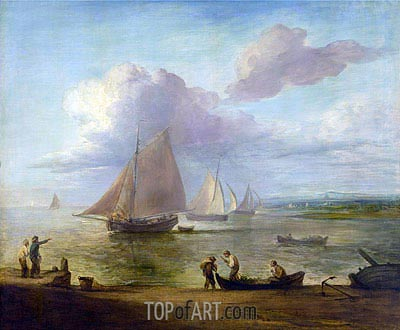 A Seapiece, a Calm, c.1783 | Gainsborough| Painting Reproduction