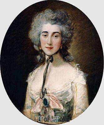Grace Dalrymple Elliott, c.1782 | Gainsborough | Gemälde Reproduktion