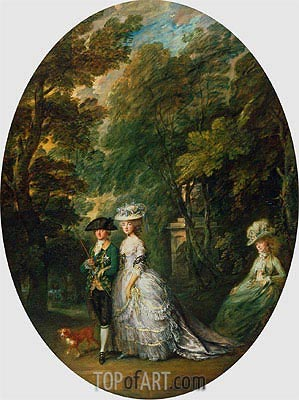 Henry, Duke of Cumberland, with Anne, Duchess of Cumberland, and Lady Elizabeth Luttrell, c.1785/88 | Gainsborough | Gemälde Reproduktion